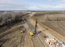 Voile étanche Deep Soil Mixing Digue du Grand Rhone Keller Arles